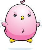 Cartoon Baby Pink Parakeet Fly Stock Image