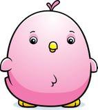 Cartoon Baby Pink Parakeet Royalty Free Stock Photography