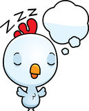 Cartoon Baby Rooster Dreaming Royalty Free Stock Images