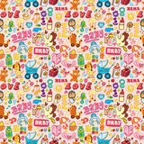 Cartoon baby seamless pattern Royalty Free Stock Photos
