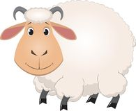 Cartoon baby sheep Royalty Free Stock Photos