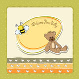 Cartoon baby shower card Royalty Free Stock Photo