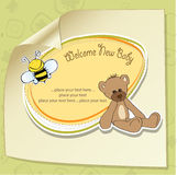 Cartoon baby shower card Royalty Free Stock Photography