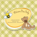Cartoon baby shower card Stock Photo
