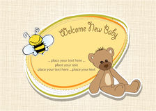 Cartoon baby shower card Stock Image