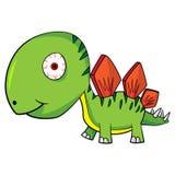 Cartoon Baby Stegosaurus Dinosaur Royalty Free Stock Photos