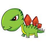 Cartoon Baby Stegosaurus Dinosaur Royalty Free Stock Photo