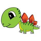 Cartoon Baby Stegosaurus Dinosaur Royalty Free Stock Images
