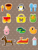 Cartoon baby stickers Royalty Free Stock Photos