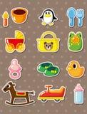 Cartoon baby stickers Royalty Free Stock Photos