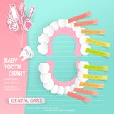 Cartoon baby tooth Stock Images