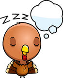 Cartoon Baby Turkey Dreaming Royalty Free Stock Photography