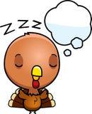 Cartoon Baby Turkey Dreaming Royalty Free Stock Photography