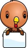 Cartoon Baby Turkey Sign Royalty Free Stock Photography