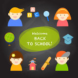 Cartoon back to school Stock Images