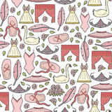 Cartoon background on ballet theme Royalty Free Stock Images