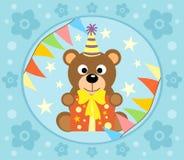 Cartoon  background  with bear Stock Photos