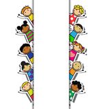 Cartoon background with children Royalty Free Stock Image