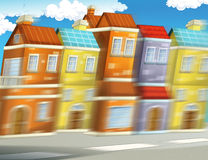 Cartoon background of a city - background for different usage Royalty Free Stock Photos