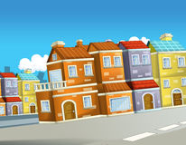 Cartoon background of a city - background for different usage Royalty Free Stock Photography
