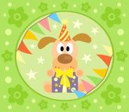 Cartoon  background  with dog Stock Photos
