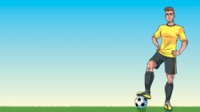 Football Player Background royalty free illustration