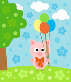 Cartoon  background with pig Royalty Free Stock Photos