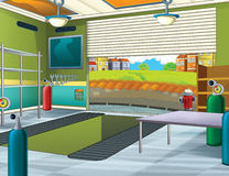 Cartoon background - garage Stock Images