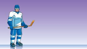 Hockey Player Background Stock Images