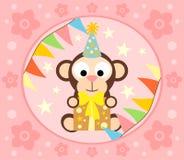 Cartoon  background  with monkey Royalty Free Stock Image