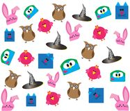 Cartoon background pattern Stock Photos