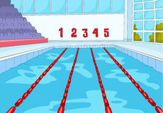 Cartoon background of swimming pool. Stock Photos