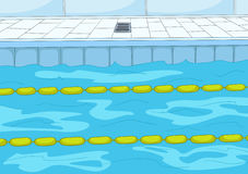 Cartoon background of swimming pool. Stock Photography