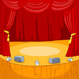 Cartoon background of theater stage. Stock Photography