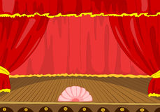 Cartoon background of theater stage. Stock Images