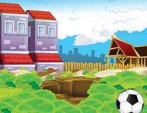 Cartoon background of a town Royalty Free Stock Photography