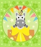Cartoon  background  with zebra Stock Photos