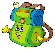 Cartoon backpack Stock Photos