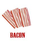Cartoon bacon isolated on white Royalty Free Stock Images