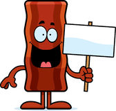 Cartoon Bacon Strip Sign Royalty Free Stock Image