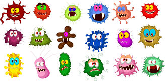 Cartoon bacteria collection set for you design Stock Photography