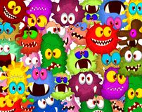 Cartoon bacteria collection set for you design Stock Photography
