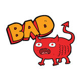 Cartoon bad imp Royalty Free Stock Image