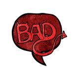 cartoon bad symbol vector illustration