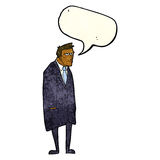 cartoon bad tempered man with speech bubble Stock Photos