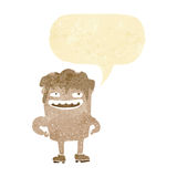 cartoon bad tooth with speech bubble Royalty Free Stock Images