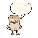 cartoon bad tooth with speech bubble Royalty Free Stock Photography