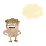 cartoon bad tooth with thought bubble Royalty Free Stock Images