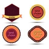 Cartoon badge medal ,winner , awards vector set in flat design illustration Stock Photography