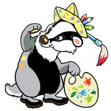 Badger artist Royalty Free Stock Images